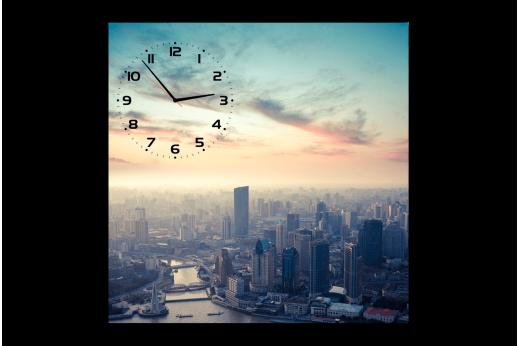 Картина-часы Мегаполис